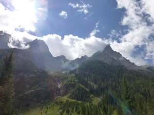 Lunch view on Cascade Canyon Trail