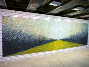 "Nice mosaic in ""L"" station"