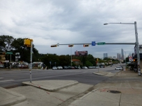 Sideways street lights