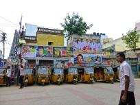Bollywood posters and auto-rickshaws
