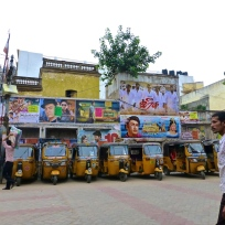 Bollywood posters and auto-rickshaws