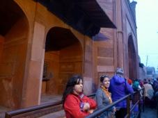 In line for the Taj